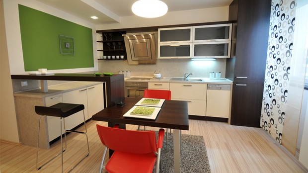 Coloured kitchen for age